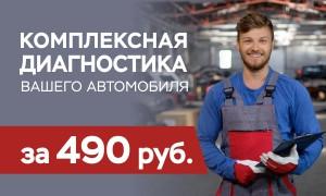 Комплексная проверка автомобиля за 490 рублей